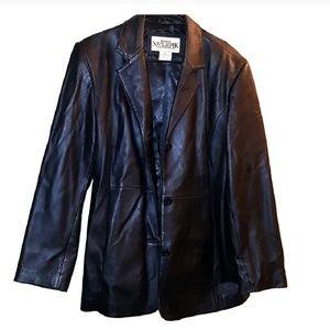 100% Genuine leather retro jacket